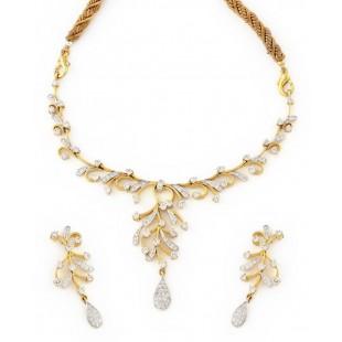 Dancing Snowhite Diamond Necklace