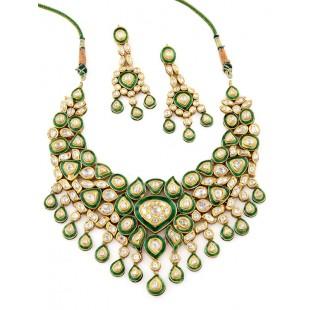 Pankhuri Teej Kundan Jewellery Set