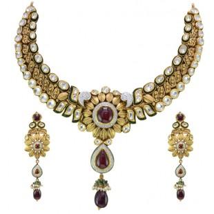 Man-Mohini Antique Gold Set