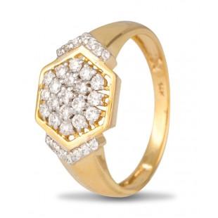 Hexagon Diamond Ring for Men
