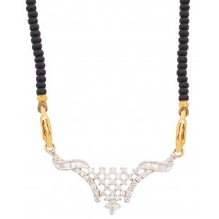 Snow-White Diamond Mangalsutra