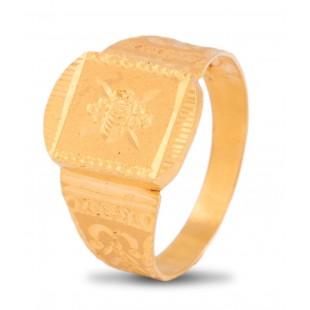 Ameliorative Gold Ring For Men
