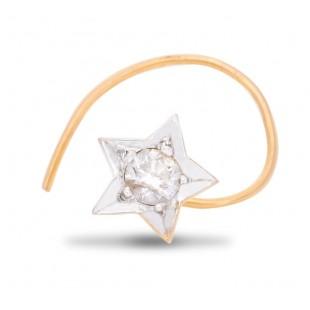 Winning Diamond Nose Pin