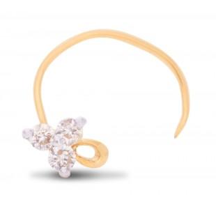 Three Stone Diamond Nose Pin