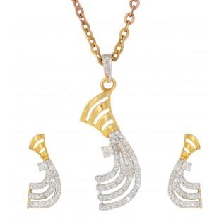 Ornate Curve Diamond Pendant Set