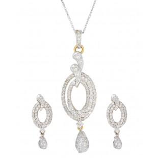 Queen's accession Diamond Pendant Set