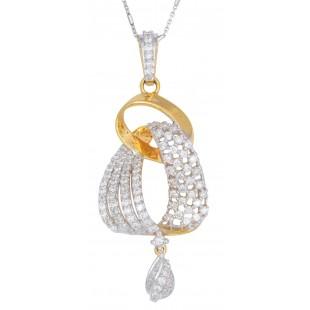 Ambi-Hoops Diamond Pendant Set