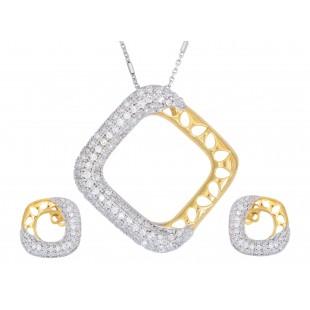 Agile Loop Diamond Pendant Set