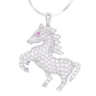 Embellishing Silver Horse Pendant