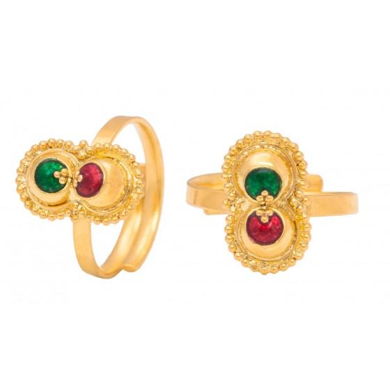 Aaloka Gold Foot Ring