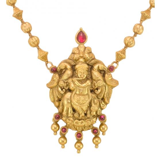 Jai Shri Krishna Pendant Set