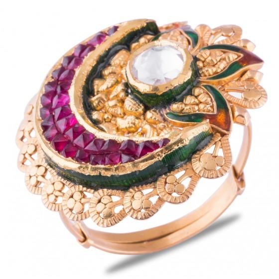 Mrunal Gold Ring