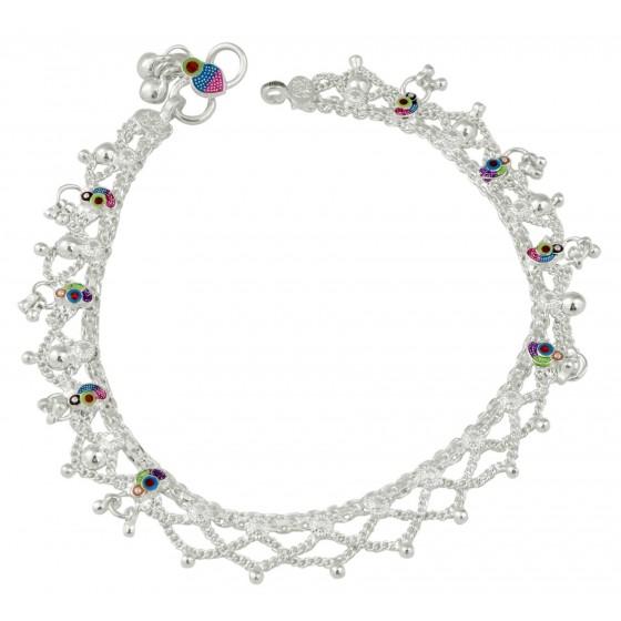 Women Vibrant Silver fancy Payal