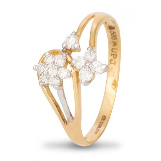 Flowers & Bud Diamond Ring