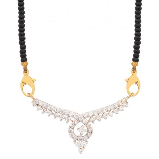 Moony Smile Diamond Mangalsutra