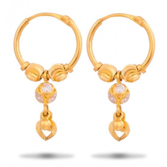 Exemplary Gold Hoops