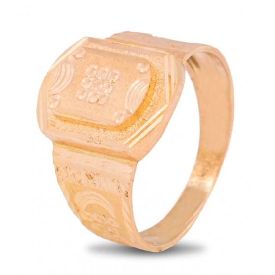 Optimistic Cheer Gold Ring For Men