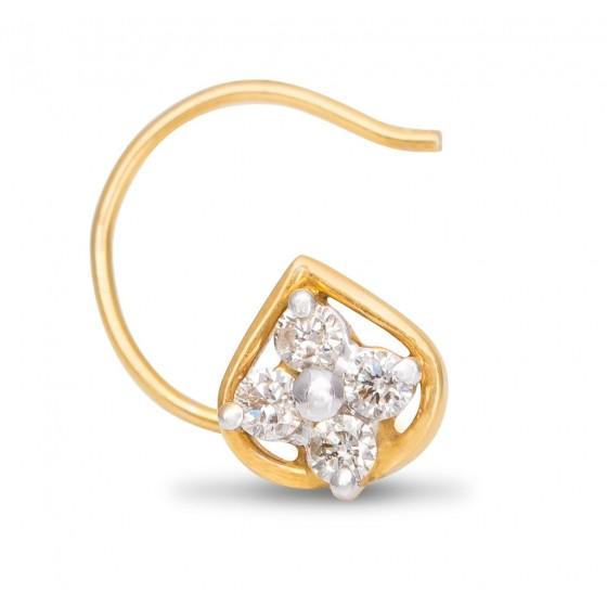 Delectable Diamond Nose Pin
