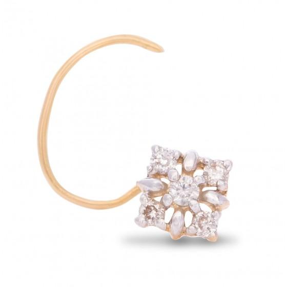 Spiffing Diamond Nose Pin