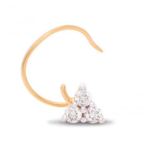 Wonderfuly Crafted Diamond Nose Pin