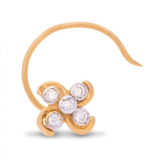 One's Liking Diamond Nose Pin