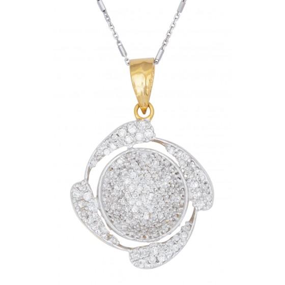 Ornate Diamond Pendant Set
