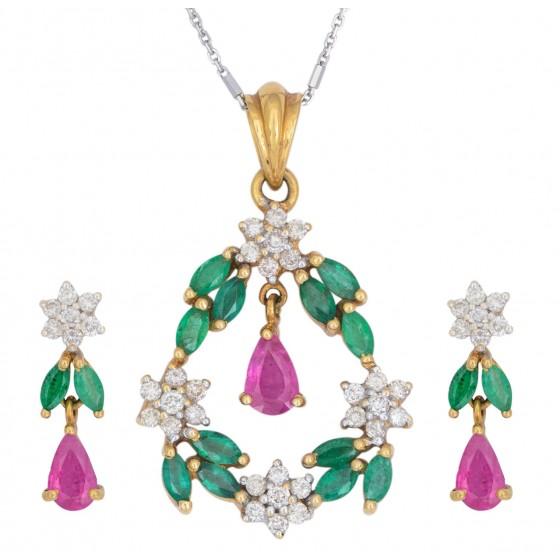 Awestruck Diamond Pendant Set