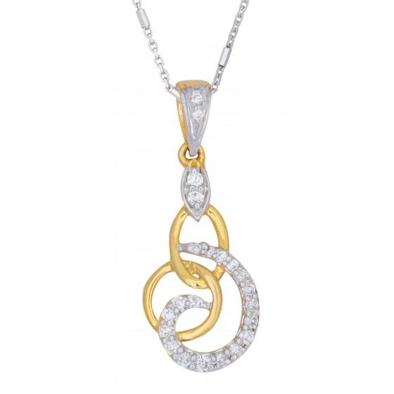 Interlocking Circle Diamond Pendant