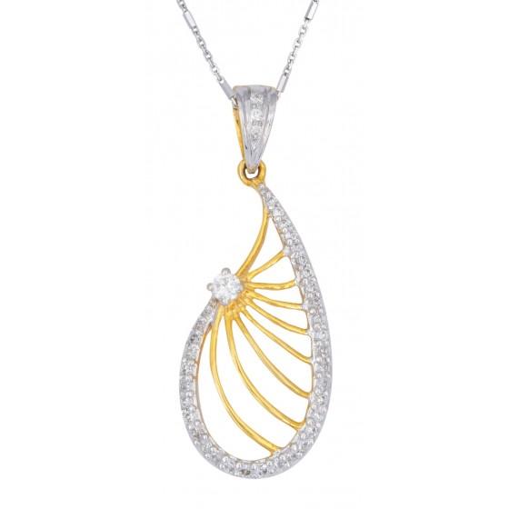 Accentuate Zeal Diamond Pendant
