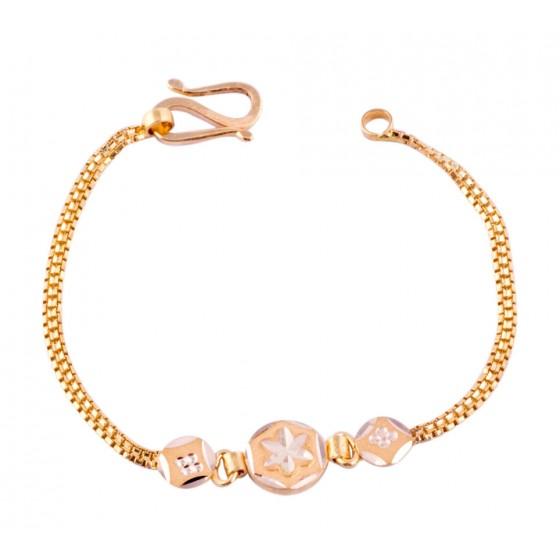 Beauteous Ensnare Gold Bracelet