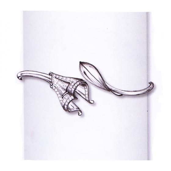 Crown Leaf Bracelet