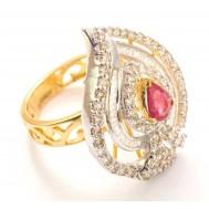 Pink Petal Paisley Ring