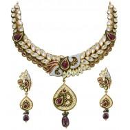 Raas-Jhankar Antique Gold Set