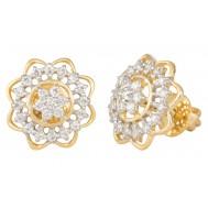 Embedded Star Diamond Earrings