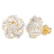 Spark Back Diamond Earrings