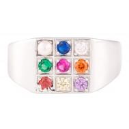 Sanguine Spectrum Sterling Silver Ring