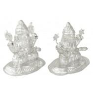 Silver Laxmi-Ganesh Idol