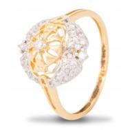 Embedded Floret Diamond Ring
