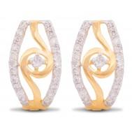 Endearingly Pretty Diamond Hoop
