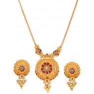 Floret Gold Pendant Set