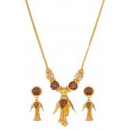 Affable Gold Pendant Set