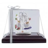 Radha Krishna Silver Idol