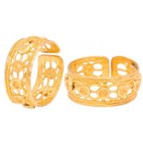 Coruscating Gold Foot Ring