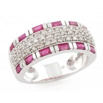 White-Pink Rhythmic Ring