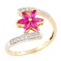 Tulip-in-Twirl Ring