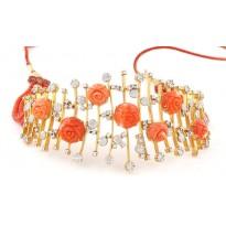 Coral-love Diamond Necklace