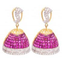 Scarlet Diamond Earring