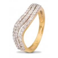 Three Layer Diamond Ring