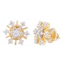 Brilliant Ray Diamond Earrings