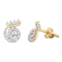 Spiral Crown Earrings